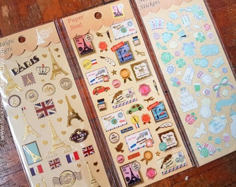 Paris stickers, Make-up sticker, Travel sticker, Eiffel Tower stickers, Europe stickers, France sticker, Travel sticker, Diamond sticker
