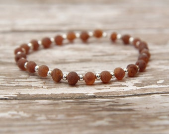 Baltic Amber Bracelet, natural pain relief, unpolished raw baltic amber, jewelry