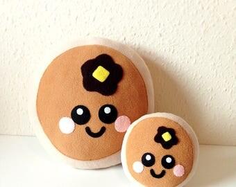 Cute Pancake Plush Cushion, pancake plushie, happy pancake cushion, cute home decor, food plush cushion, pancake soft toy, kids room decor