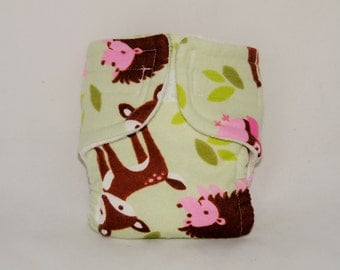 Baby Doll Diaper - Woodland Creatures - Size Large