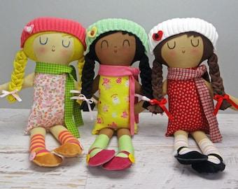 Livia Doll - custom made rag doll gift for girl  personalized gift