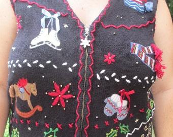 tacky chrismtas sweater, ugly christmas sweater, tacky sweater, ugly sweater, tacky sweater party, ugly sweater party. holiday sweater, vest