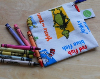 "Reusable Snack Sack, Mini Size - 5"" x 5""-  Machine Washable, Zippered, EcoFriendly"