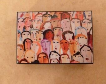 Face in the Crowd Art Block - Wall Art