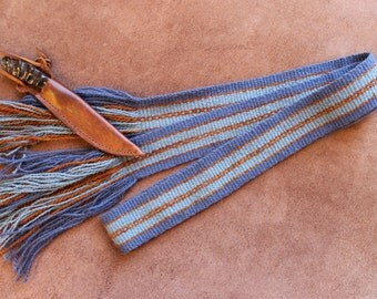 Wool Sash for Powder Horn, Quiver, Rifle, Possibles Bag, Historic Reenactor, Costume, Mountain Man
