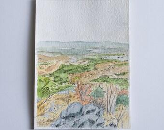 Watercolor Landscape Original Watercolor Painting Landscape Watercolor Painting Watercolor Sketch Watercolor Painting Landscape Art