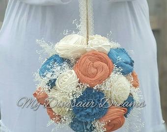 Sola Flower Ball, Sola Wedding Decoration, Sola Flower Centerpiece, Wooden Centerpiece, Flower Ball, Wedding Centerpiece, Aisle Decor