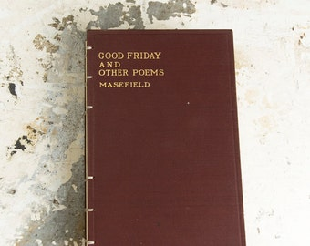 1916 GOOD FRIDAY Vintage Recycled Book Journal