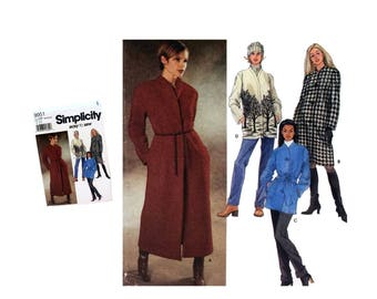 Simplicity 9951 Sewing Pattern, Pattern, Misses Coat Pattern, Ladies Long Coat, Ladies Short Coat, Misses Jacket Pattern, DIY Winter Fashion
