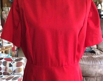 Vintage 1960s Dress Casual Zip Front House By