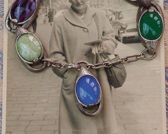 Vintage - Rare Design - Scottish - Miracle - Multi-Stoned Bracelet - c1960s