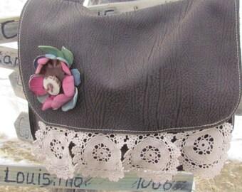 Cowhide Purse, Leather Purse, BOHO bag, Cowhide, medium Leather Bag, Purse, messenger Bag, Leather Handbag