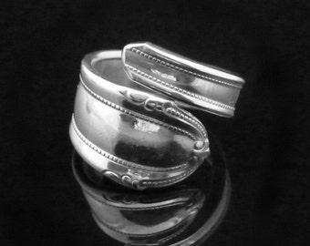 Vintage Simple Spoon Ring, Lady Alice 1937