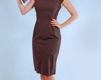 Sarah Spot Pinup Rockabilly Wiggle Dress