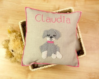 Personalised Cushion-My Puppy Friend , Baby Gift, Birthday Gift