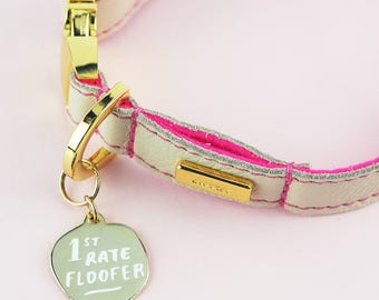 "pet collar tag charm ""1st Rate Floofer"" Pet Name Tags - Pet Collar Tags - Dog ID Tags - Cat ID Tags"
