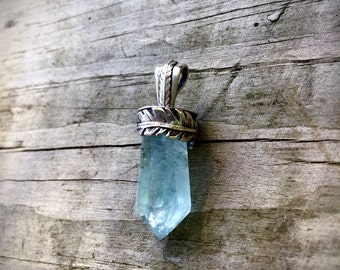 Sacred Waters-  Aquamarine Crystal Necklace