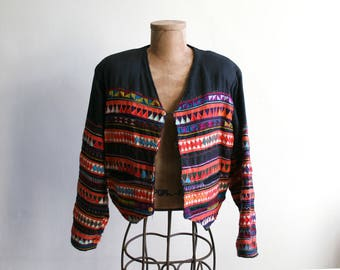 Patterned Thai Akha Jacket l-xl