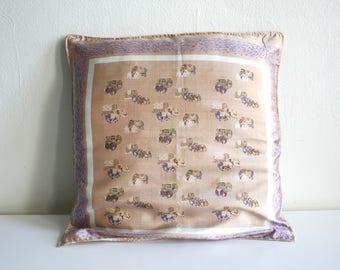 SALE Silk Elephant Pillow