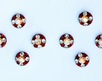 Bindi Self Adhesive Indian Dots Traditional Crystal Red
