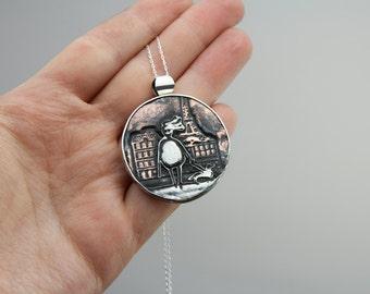 Paris jewellery, Paris necklace, artisan necklace, Eiffel necklace, Eiffel tower jewellery, french jewellery, french necklace,travel jewelry