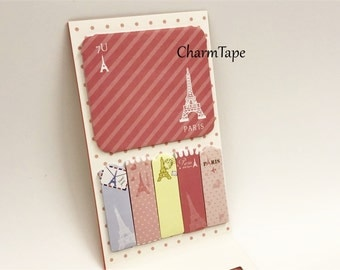 Pink Eiffel Tower Post-It Memo Note Pad 120 sheets SS741