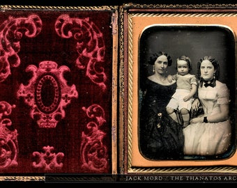 Beautiful Early-1850s 1/4 Daguerreotype of ID'd Group