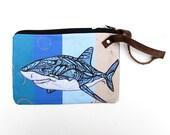 Shark Wristlet Zipper Bag