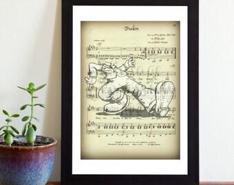 Grateful Dead, Truckin, Doo Dah Man, on Original Lyric Song Music Sheet, Print