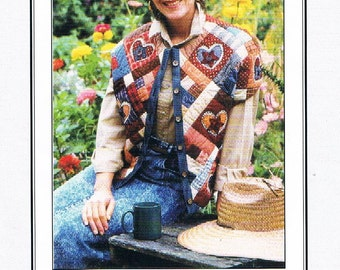 Star of My Heart Quilted Vest/Pattern Project - Original Design & Pattern by Rag Merchant