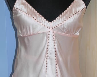 Pink Silk Camisole by Gold Hawk