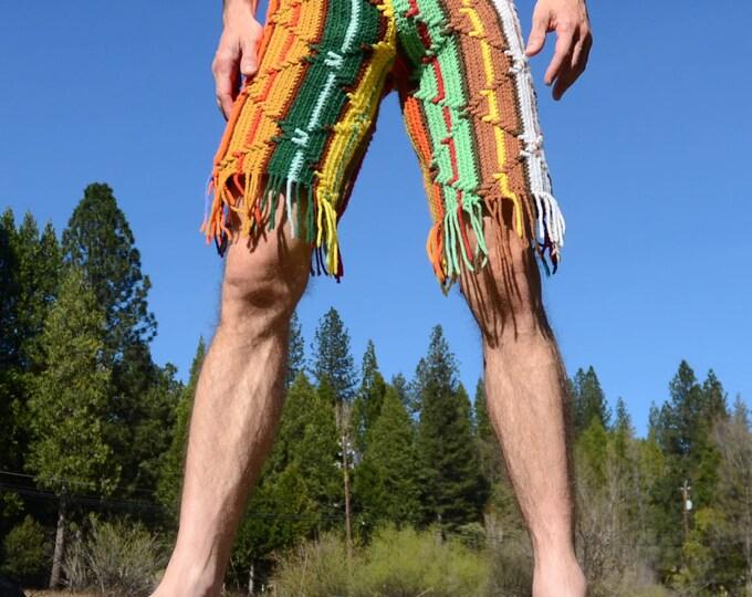 Crochet Shorts Southwest Stripes S