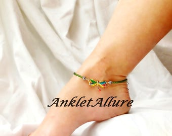 Crazy Dragonfly Anklet Beach Ankle Bracelet Dragonfly Body Jewelry Foot Jewelry
