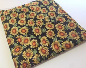 Sunflower Print Fabric, Hoffman Int'l Fabrics, Screen Print, Les Jardins, Sewing Material, 1 yd Remnant