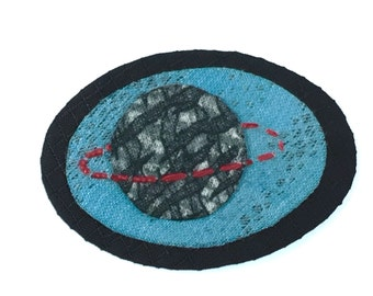 Resist Series,  Synergy Hand Embroidered Clip Patch Pin by JeanineDesigns