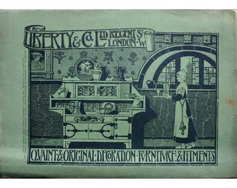 Vintage Advertisement for Libertys of London published in the Studio Magazine 1909