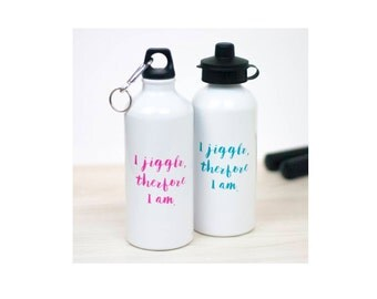 Jiggle Water Bottle | Gym | Workout | Exercise | Motivation | Gift | Drinkware | Sport Accessories | For Her