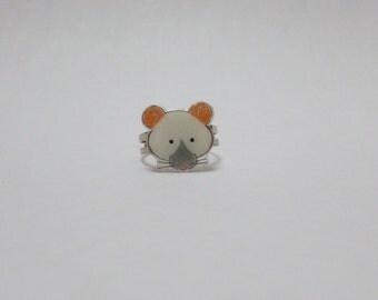 Fancy Rat Blue Point Siamese Rat Ring Pet Rat Jewellery