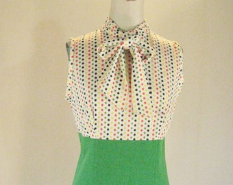 1960s Candy Buttons Polka Dot Dress