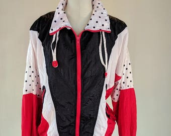 Polka Dot New Wave Windbreaker Jacket Top