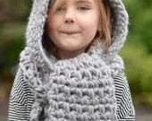 Crochet PATTERN-The Zolta Hooded Scarf (12/18 months, Toddler, Child, Teen, Adult sizes)