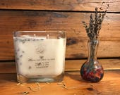 Rosemary / Lavender Candle | All Natural Soy Wax | Hand-Poured Soy Candle | Mason Jar Candle | Elegant Candle | Travel Candle | Relax Scent