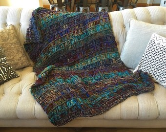 CUSTOM Blanket. Choose Colors Design Your Own Customized Blanket Throw Blanket Afghan Eclectic Decor Colorful Home