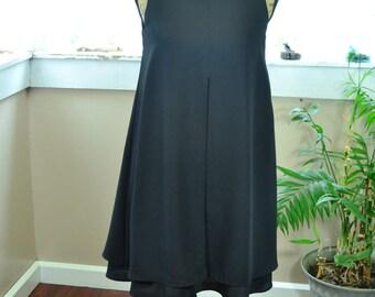Vintage Black Dress by David Rose Short Black Dress Tent Dress- S