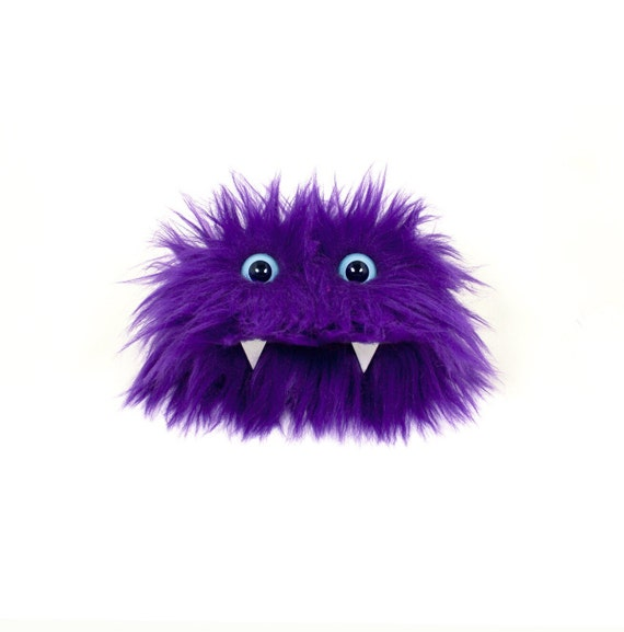 Eco Friendly Monster Case - Purple Furry Altered Altoids Tin - Great for gift cards, party favors, teen or child wallet - Kawaii