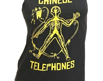 CHINESE TELEPHONES restyled rock T-Shirt / Dress sz. S / M
