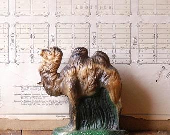 Vintage Chalkware Camel Figurine - Nativity Statue