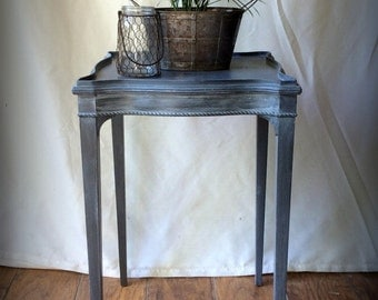 SHIPPING~RESERVED~Charcoal Gray Accent Table~French Writing