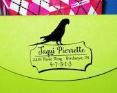 Parrot Stamp, Self Inking Parrot Return Address Stamp, Bird Mom Gift, Pet Bird Address Stamper, Bird Lover Gift, Mother's Day Gift, Custom