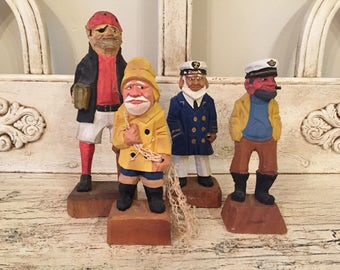 Vintage Wooden Sea Captain Lot - Instant Collection - Nautical Decor